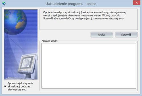 Pomoc - Aktualizacje - Faktura program