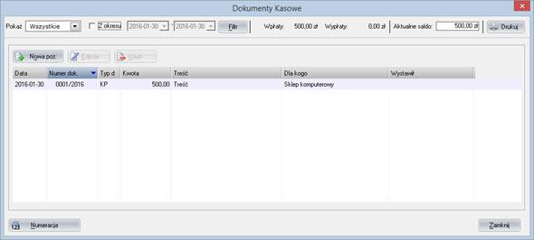 Księgowość - Dokumentacja firmowa - Raport kasowy - Program do pisania faktur
