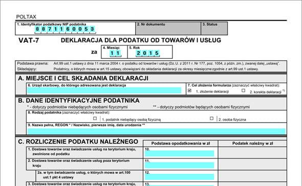 Księgowość - Ksiegowość - VAT-7 - System do wystawiania faktur