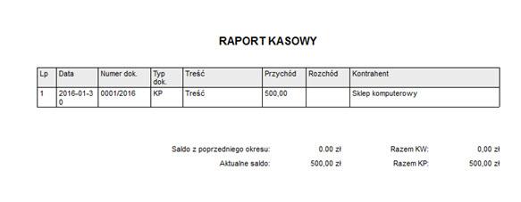 Księgowość - Dokumentacja firmowa - Raport kasowy - Faktura vat program