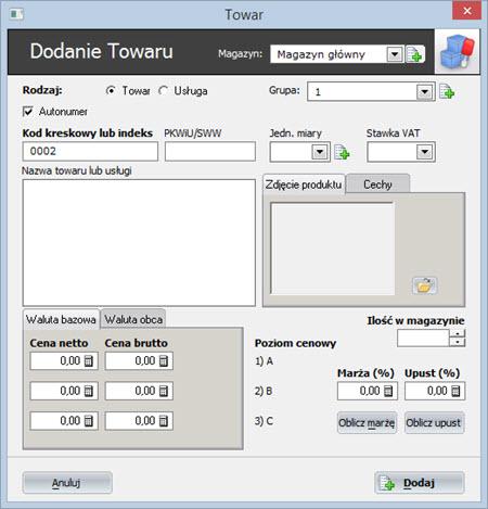 Etykiety - Kody kreskowe - Oprogramowanie do faktur