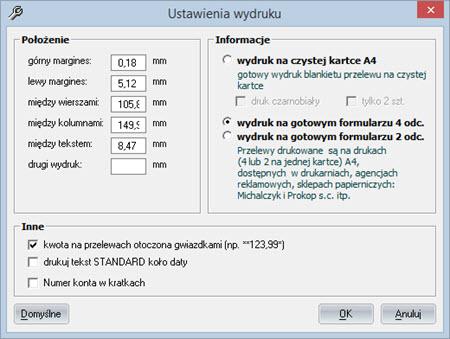 Płatności - Przelewy Bank/Poczta - Faktury vat