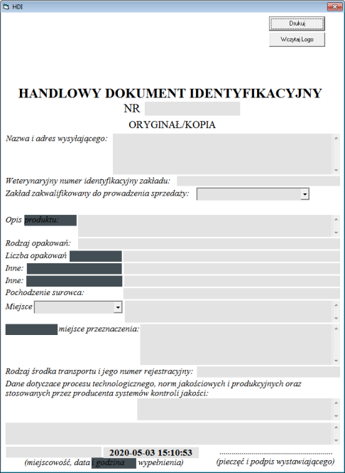 Handlowy dokument identyfikacyjny