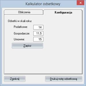 Inne - Inne - Kalkulator odsetkowy - Program do wypisywania faktur