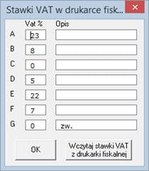 Podstawowe - Konfiguracja programu - Program do generowania faktur