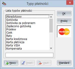 Słowniki - Sposoby płatności - Program do wystawiania faktur vat