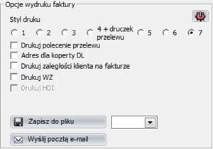 Faktury - Faktury - Druk seryjny - System do wystawiania faktur