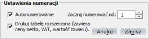 Magazyn - Druki - Druk PZ - Faktury vat
