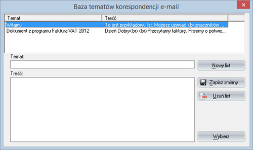 Faktury - Dokument - Wyślij dokument e-mailem - Oprogramowanie do faktur