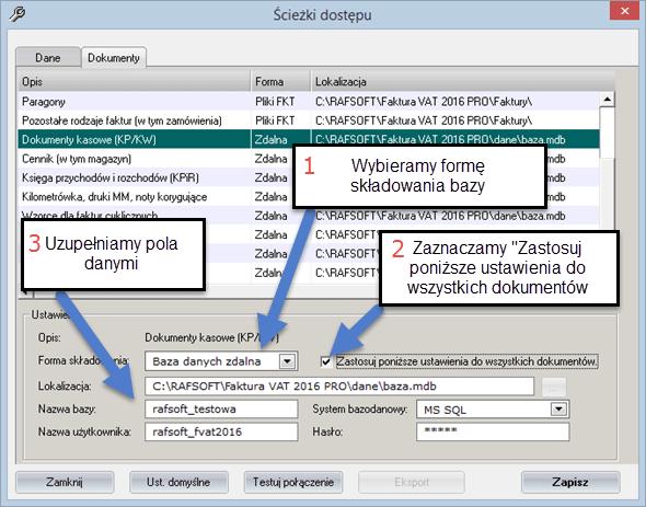 Instalacja programu w sieci - Faktury vat