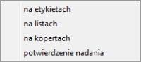 Druk seryjny - Faktura program