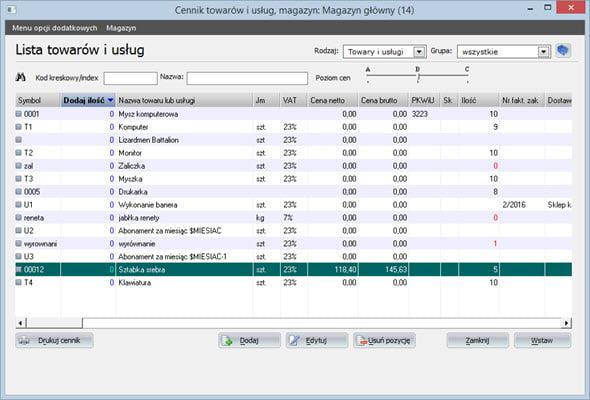 Tworzenie paragonu - Program do generowania faktur