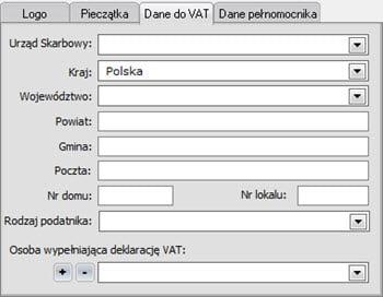 Edycja danych podatnika - Program do wystawiania faktur vat