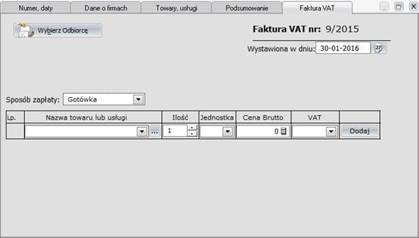 Szybkie wystawianie faktur - Oprogramowanie do faktur