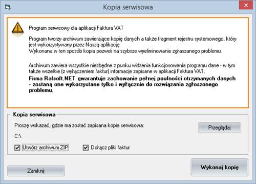 Podstawowe - Zapasowa Kopia Bezpieczeństwa - Oprogramowanie do faktur