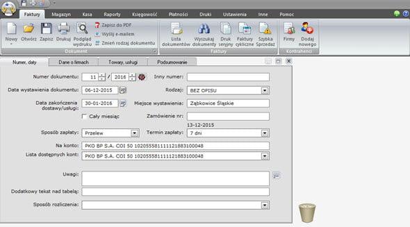 Tworzenie faktury zaliczkowej i końcowej - Faktura vat