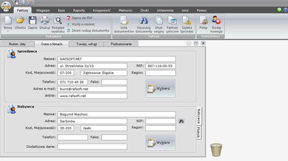 Tworzenie faktury zaliczkowej i końcowej - Program faktura