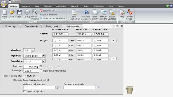 Tworzenie faktury zaliczkowej i końcowej - System do fakturowania