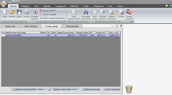 Tworzenie faktury zaliczkowej i końcowej - Faktura program