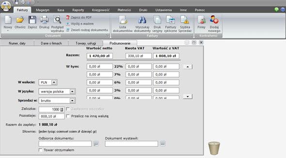 Tworzenie faktury zaliczkowej i końcowej - Program wystawianie faktur