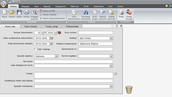 Tworzenie faktury zaliczkowej i końcowej - Faktury vat oprogramowanie
