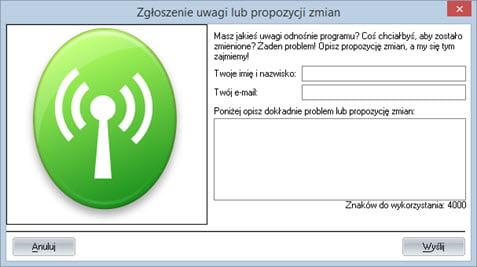 Elementy składowe programu - Ekran główny - Prosty program do faktur