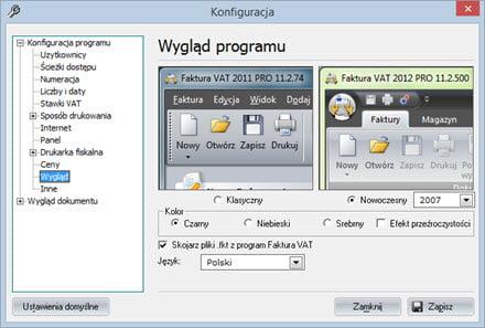 Podstawowe - Konfiguracja programu - Dobry program do wystawiania faktur