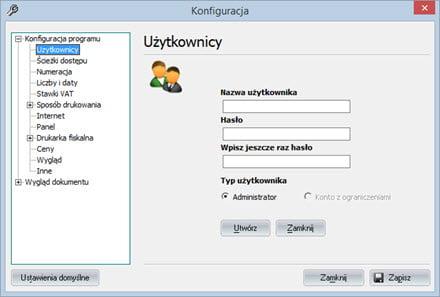Podstawowe - Konfiguracja programu - Program do faktur vat